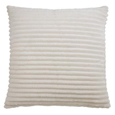 """18""""x18"""" Faux Rabbit Fur Pillow Cover - Saro Lifestyle"""