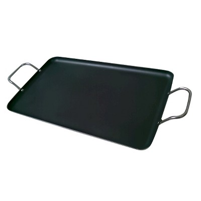Gourmet Chef 19  Nonstick Griddle Pan Black