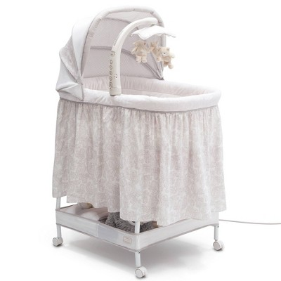 Simmons Kids' Silent Auto Gliding Deluxe Bassinet - Embossed Paisley