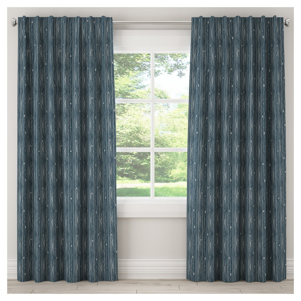 Blackout Shibori Stripe Curtain Panel Navy (Blue) (50