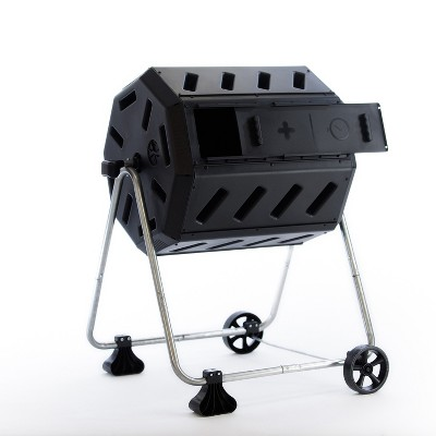 FCMP Outdoor IM4000-WK 37 Gal Dual Chamber Quick Curing Tumbling Composter Bin
