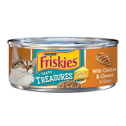 Purina Friskies Tasty Treasures (Chicken & Cheese in Gravy) - Wet Cat Food - 5.5oz can - image 1 of 4