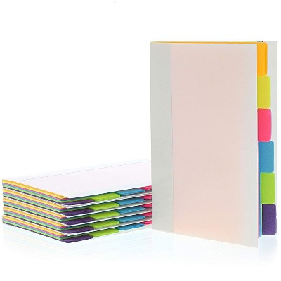 Best Paper Greetings 6-Pack 60 Sheets Sticky Notepad Note Tabs with Lined Paper & 6 Index Tabs, 4 x 6 in