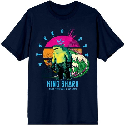 The Suicide Squad Movie King Shark Navy Tee Shirt
