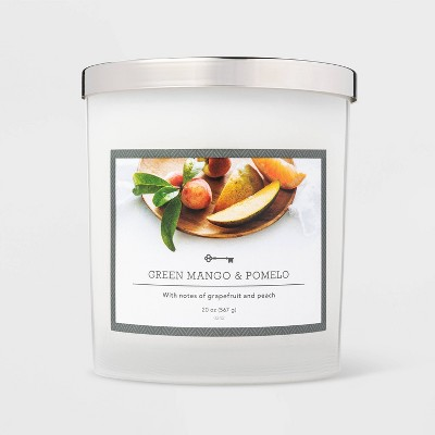 20oz Jar 3-Wick Green Mango and Pomelo Candle - Threshold™
