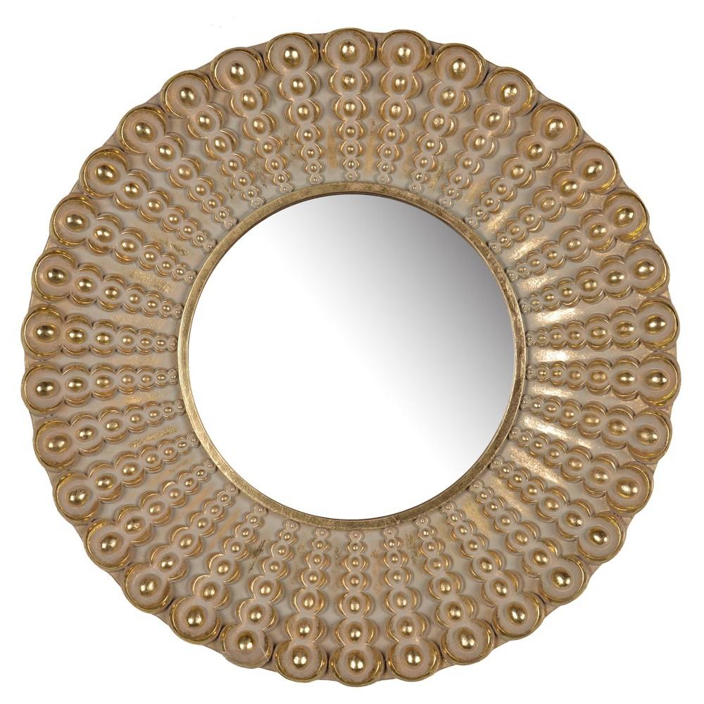 Image of Aubrey Round Mirror (19) - A&b Home, Gold