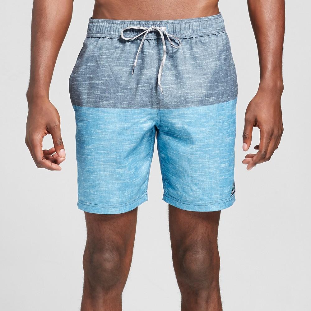 Trinity Collective Men's Colorblock Swim Trunks 8 - Blue XL