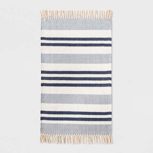 "Stripe Kitchen Rug 1'8""X2'10"" Blue - Threshold™ - image 1 of 2"