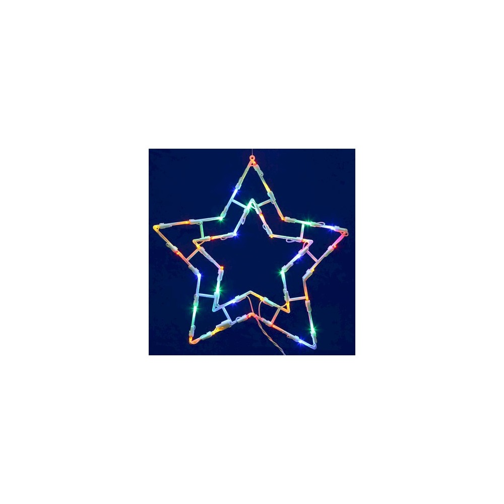 """Image of """"35 LED Light Star Window Décor - Multicolored (15x15"""""""")"""""""
