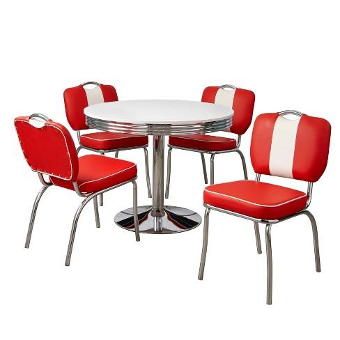 5pc Raleigh Retro Dining Set, Retro Dining Room Sets