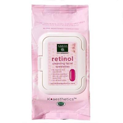 Earth Therapeutics Makeup Remover Wipes - Retinol