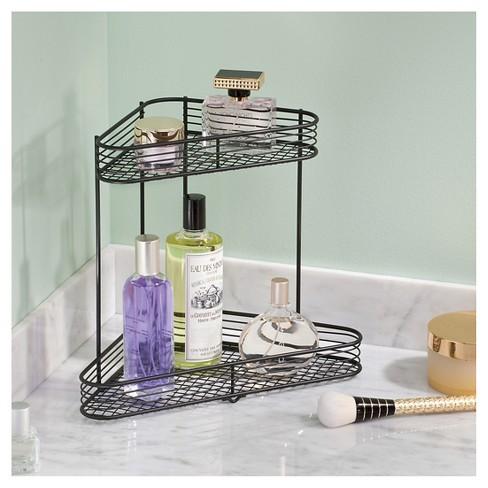 Bathroom Corner Storage Shelves (2-Tier) Black - Room Essentials ...