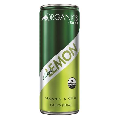 Red Bull Organics Bitter Lemon Energy Drink - 8.4 fl oz Can - image 1 of 1