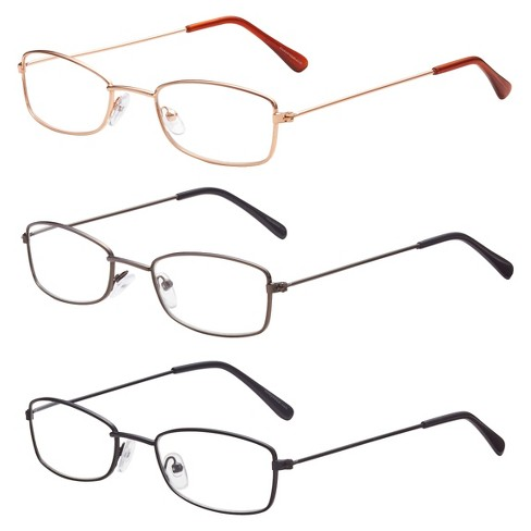 ICU 3-Pack Metal Reading Glasses - +2.5 : Target