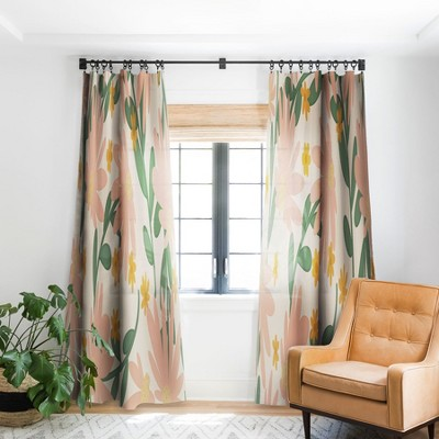Lane and Lucia Meadow Of Autumn Wildflowers Single Panel Blackout Window Curtain - Society6