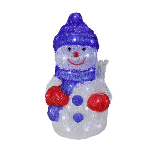 Target Christmas Commercial.Northlight 15 Lighted Commercial Grade Acrylic Snowman Christmas Display Decoration