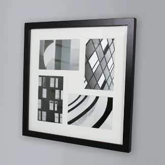 "Thin Collage Frame Holds 4 Photos Black 4""x6"" Photos - Made By Design™"