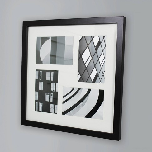 "Thin Collage Frame Holds 4 Photos Black 4""x6"" Photos - Made By Design™ - image 1 of 4"