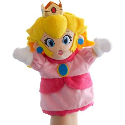UCC Distributing Super Mario 9 Inch Plush Hand Puppet | Princess Peach