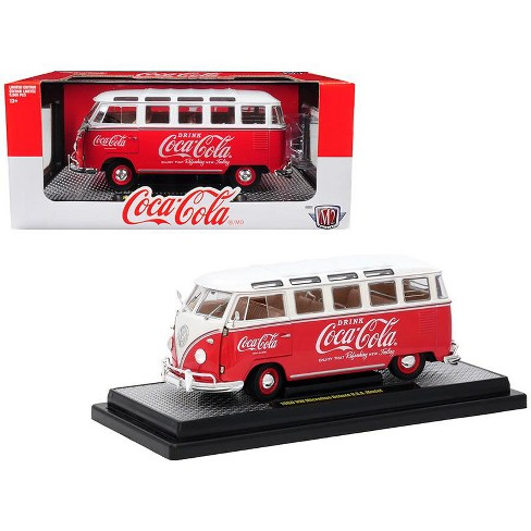 """1960 Volkswagen Microbus Deluxe U.S.A. Model """"Coca-Cola"""" Red Ltd Ed 9,600 pcs 1/24 Diecast Model by M2 Machines - image 1 of 1"""