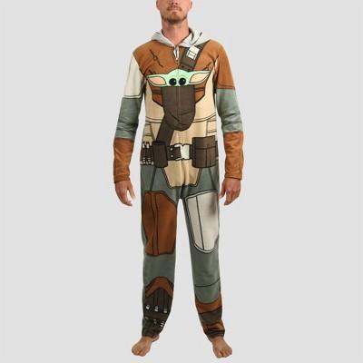 Men's Star Wars: The Mandalorian Union Suit - Gray L