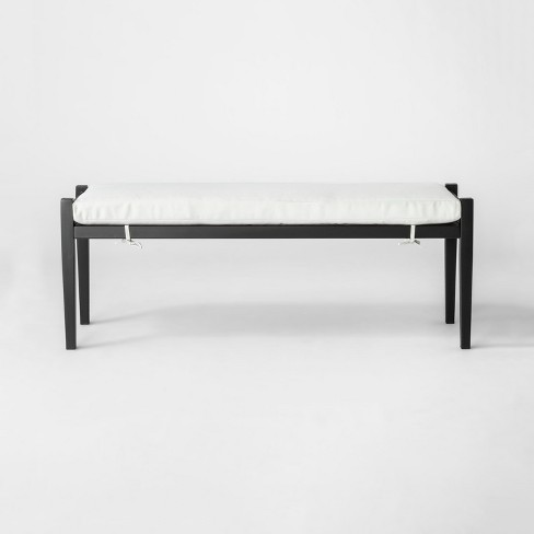 Fairmont Metal Patio Dining Bench - Linen - Threshold™ - image 1 of 4