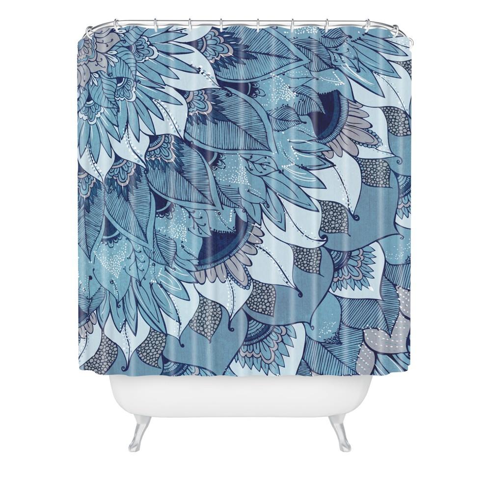 Rosebudstudio Control Shower Curtain Blue Deny Designs
