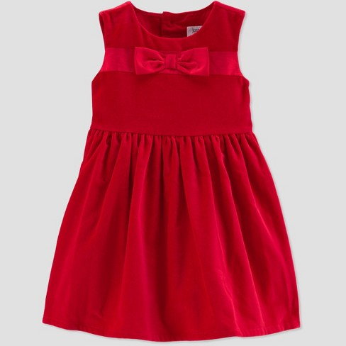 Toddler Girls  Bow Holiday Dressy Dress - Just One You® Made by Carter s Red 308f6201c282