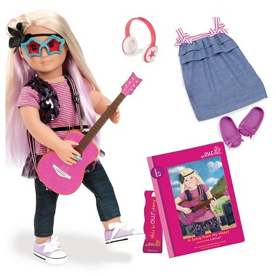"""Our Generation 18"""" Posable Rock Star Doll with Storybook - Layla"""
