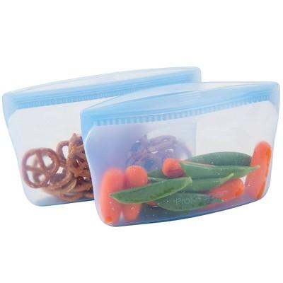 Progressive Reusable Silicone 2pk Snack Bag - Midday Blue