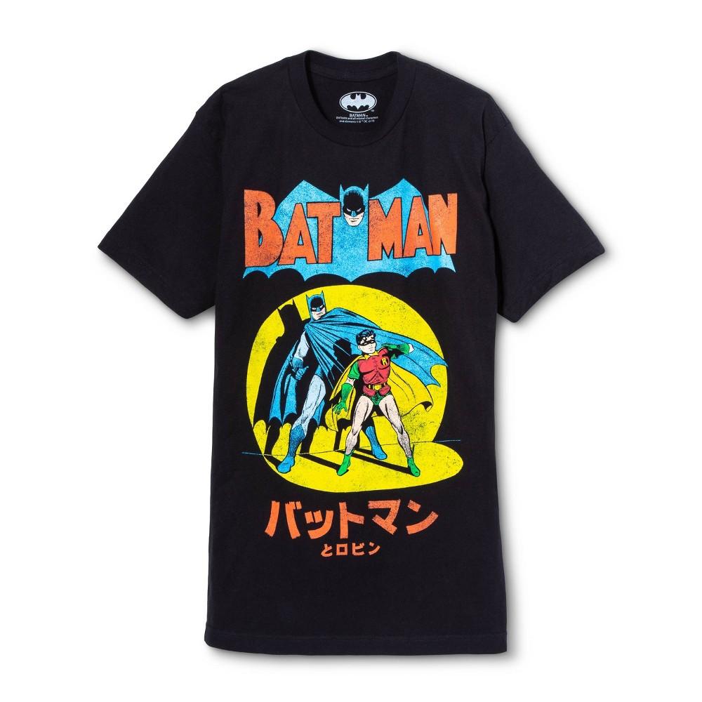 Men's Batman Comic Short Sleeve Graphic T-Shirt - Black XL