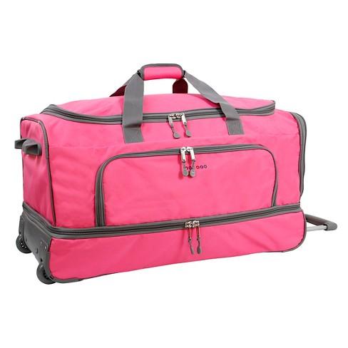 "J World Piton 33"" Drop Bottom Duffel Bag - Pink - image 1 of 4"