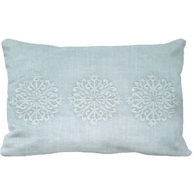 Medallion Garment Washed Lumbar Pillow Light Blue - Threshold™