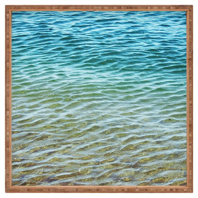 Shannon Clark Ombre Sea Square Tray Blue Deny Designs Target