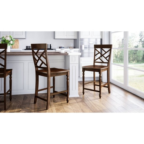 Westport Counter Stools (Set of 2) Brown - Abbyson Living - image 1 of 1
