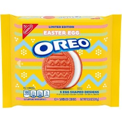 Oreo Easter Egg Shaped Sandwich Cookies - 8.5