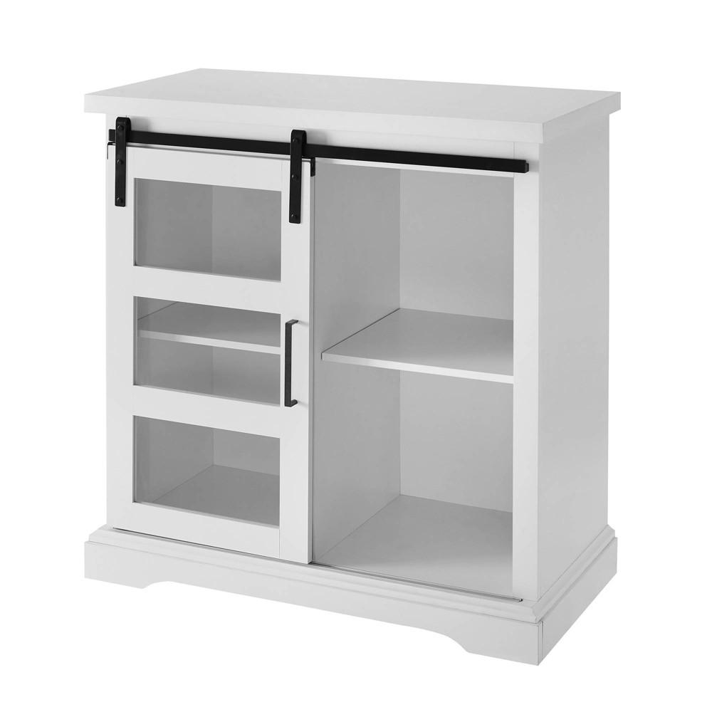 32 Modern Sliding Door Buffet White - Saracina Home