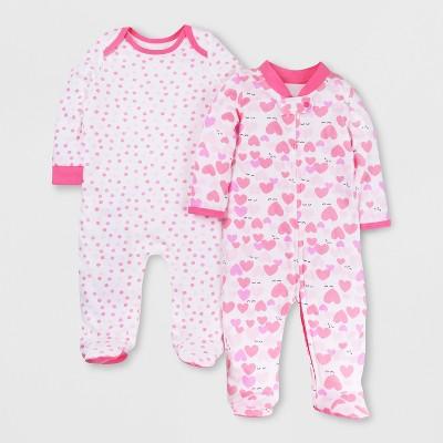 Lamaze Baby Girls' Organic 2pk Sleep 'N Play - Pink 3M