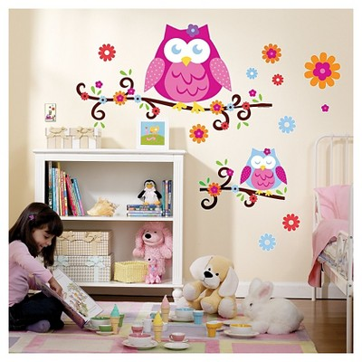 Owl Blossom Wall Decal