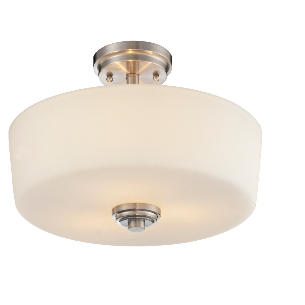 "Image of ""10.75"""" Ceiling Light Semi-Flush Mount Brushed Nickel - Z-Lite"""