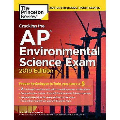 Cracking the AP Environmental Science Exam, 2019 Edition - (College Test  Preparation)(Paperback)