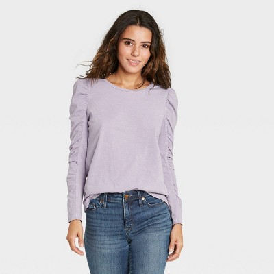 Women's Long Sleeve Ruched T-Shirt - Universal Thread™