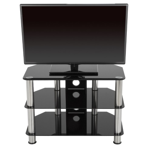 """42"""" TV Stand with Cable Management - Silver/Black - image 1 of 6"""