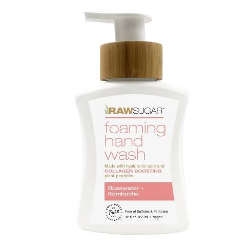 Raw Sugar Foaming Hand Wash Rosewater + Kombucha - 12 fl oz - image 1 of 4