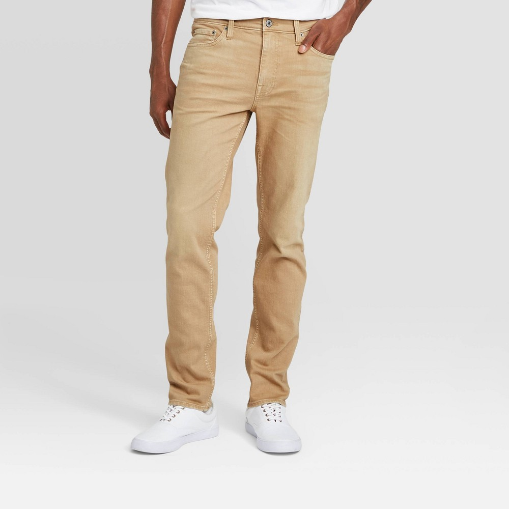 Men 39 S Slim Fit Jeans Goodfellow 38 Co 8482 Khaki 28x32