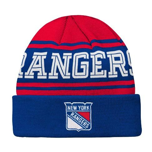e91857547fa NHL Youth New York Rangers Cuffed Knit Hat   Target