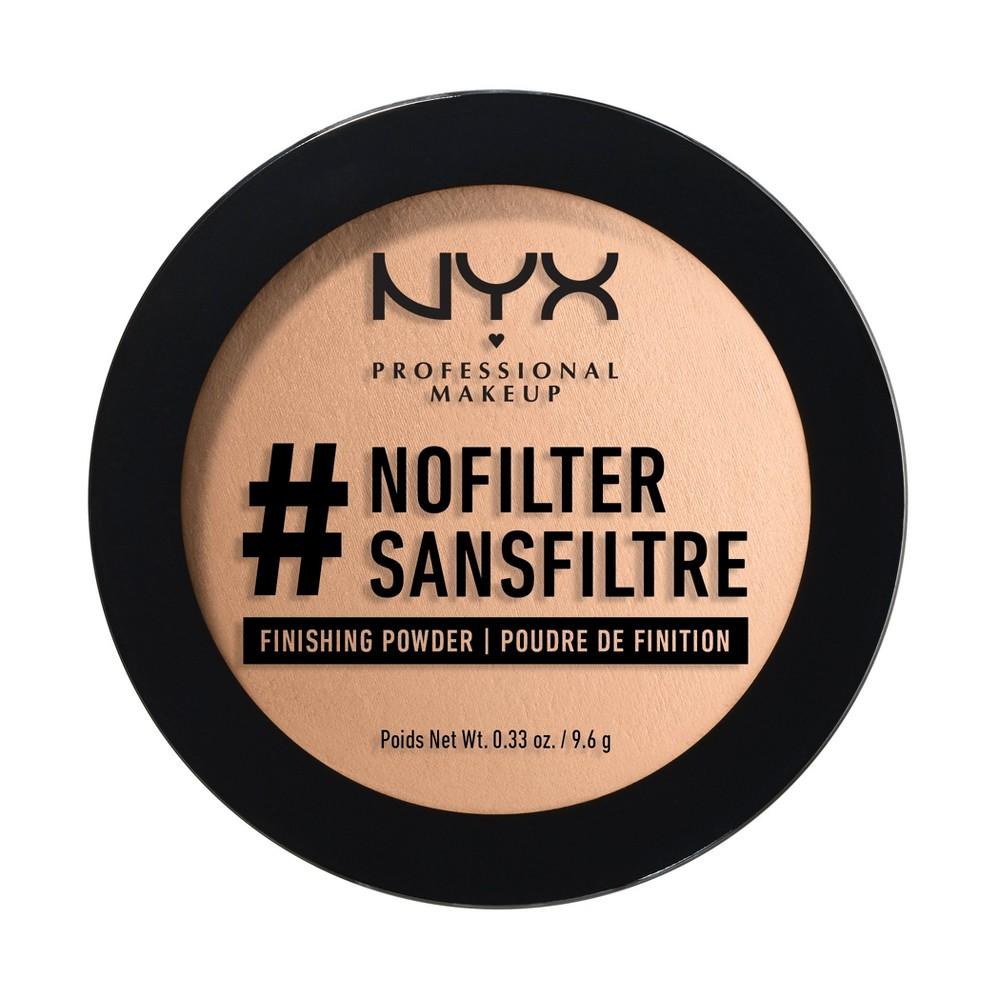 Nyx Professional Makeup #nofilter Finishing Powder Caramel Beige - 0.33oz