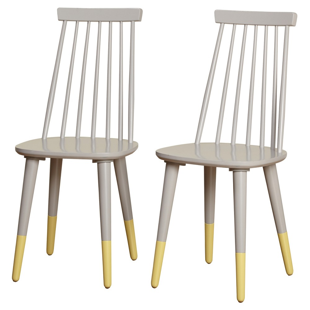 Image of Set of 2 Hermosa Dining Chair Gray - Angelo:Home