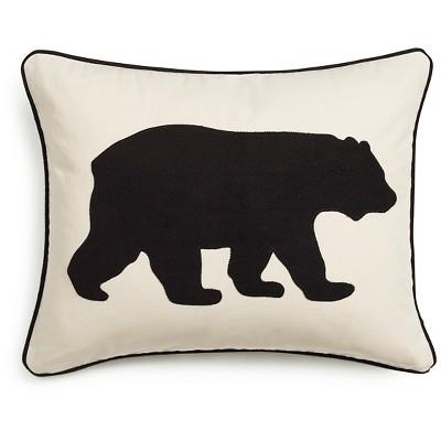 "16""x20"" Bear Lumbar Throw Pillow - Eddie Bauer"