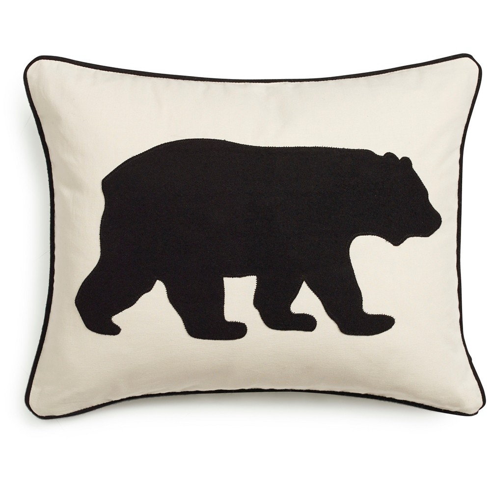 "Image of ""Bear Throw Pillow Black (16""""x20"""") - Eddie Bauer"""